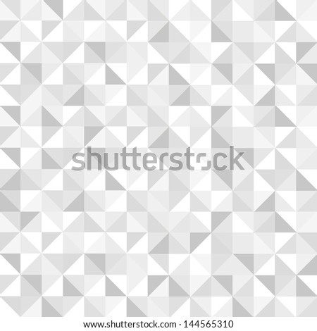 Seamless monochromatic geometric pattern. Vector background - stock vector