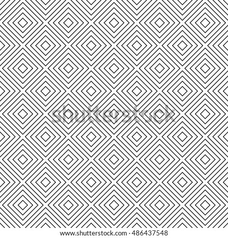 Seamless monochrome abstract square pattern background vector