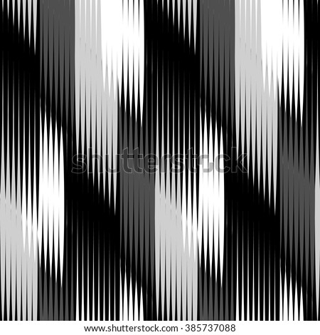 Seamless monochrome Ikat Ogee Background Pattern - stock vector