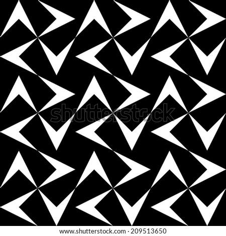 Seamless Monochrome Pattern - stock vector