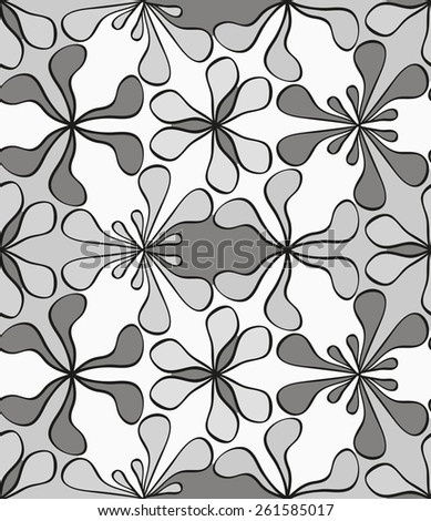 Seamless monochrome pattern for your design