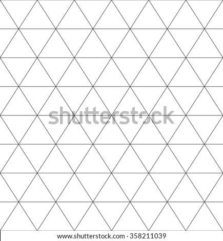 Seamless Monochrome Pattern Triangles Rhomb Octagon Stock Vector
