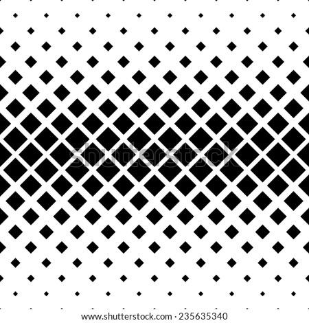 Seamless monochrome square pattern - stock vector