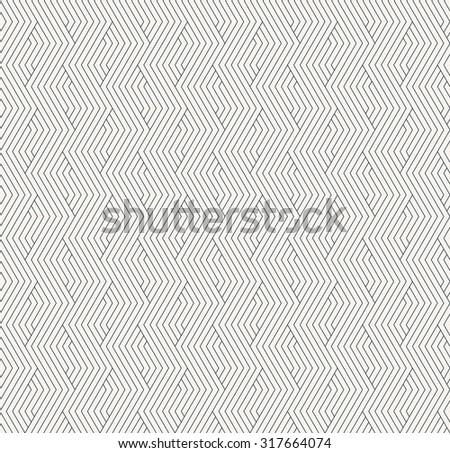 seamless monochrome striped geometric pattern - stock vector