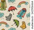 Seamless monsoon season background. - stock vector