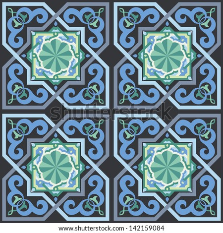 Seamless Moorish Style Pattern - stock vector