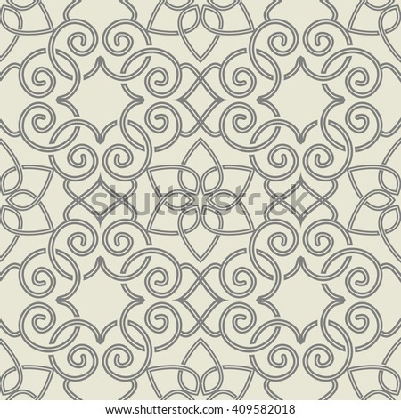 Seamless Moroccan pattern  Ethnic pattern. Can be used for ceramic tile, wallpaper, linoleum, surface textures, web page background. - stock vector