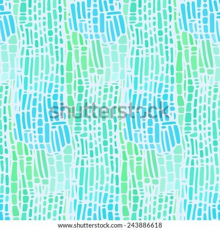 Seamless mosaic background. Vector illustration - stock vector