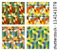 Seamless mosaic background. Vector set. - stock vector