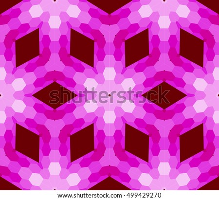 seamless mosaic. floral stained-glass window. purple color. vector illustration. for design, wallpaper, interior