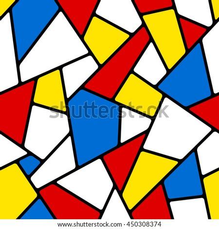 Seamless mosaic pattern. - stock vector