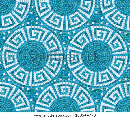 Seamless Mosaic Pattern Blue Ceramic Tile Stock Vector 180544793 ...
