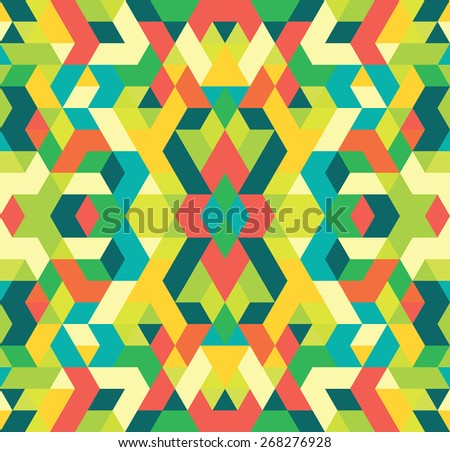 Seamless multicolored background of geometric shapes. Colorful mosaic pattern. Abstract background for design. Colorful seamless geometric  background. - stock vector