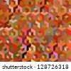 Seamless multicolored cubes pattern - illustration - stock vector