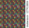 Seamless multicolored knit pattern - stock vector