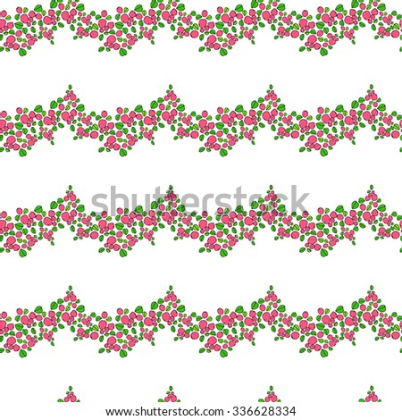 Seamless natural pattern - stock vector
