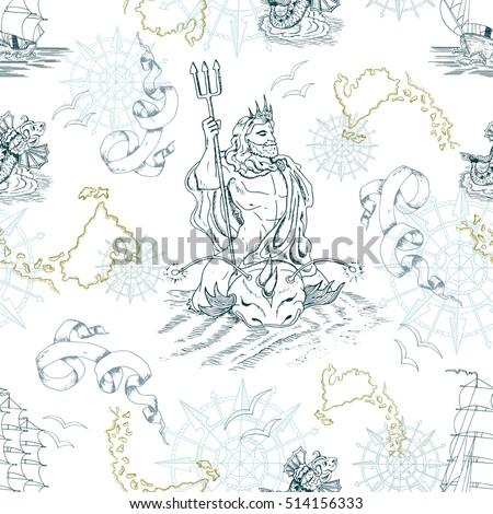 poseidon trident stock images royaltyfree images
