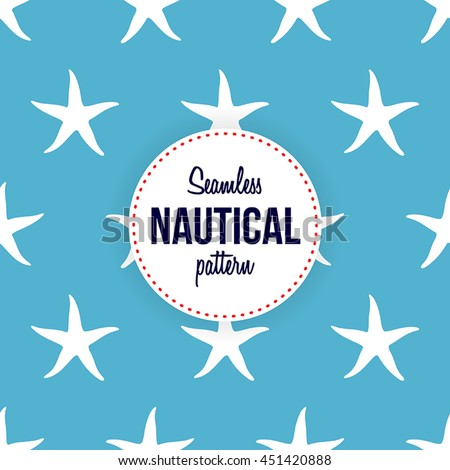 Seamless nautical pattern of starfish