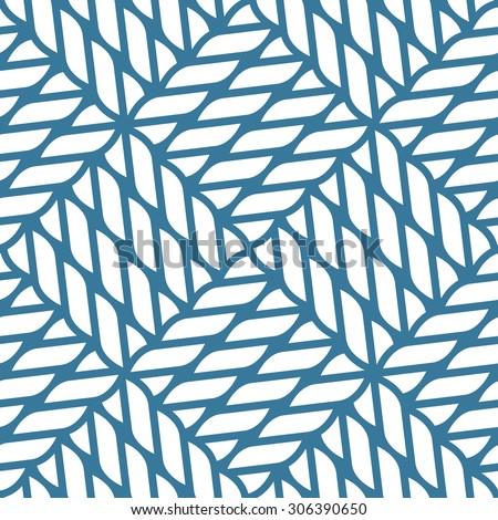Seamless nautical rope knot pattern, fishing net, lattice - stock vector