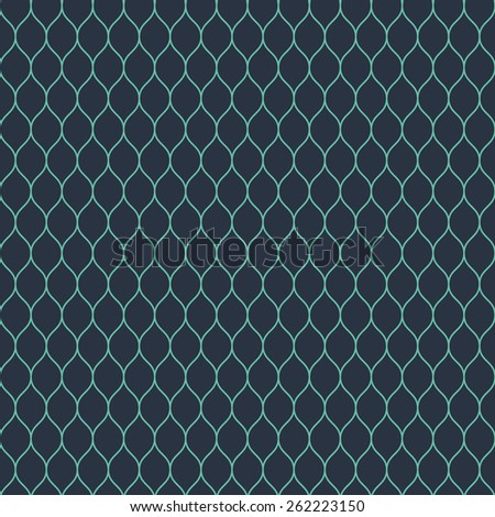 Seamless neon blue woven pattern vector - stock vector