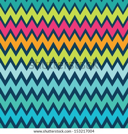 Seamless neon geometric pattern with zigzags. Can be used in textiles, for book design - stock vector