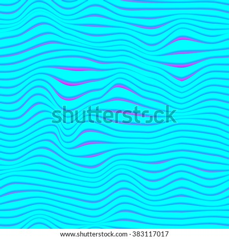 Seamless neon waves pattern