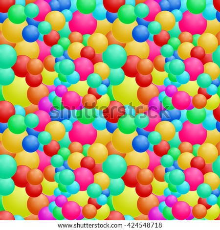 Seamless of round bubbles  pattern  vector illustration