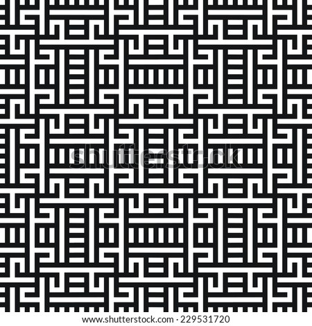 Seamless optical art mesh pattern - stock vector