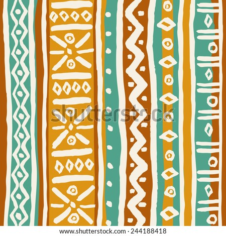Seamless orange ornamental texture. Endless abstract pattern. Template for design textile, accessories, bags, backgrounds, paper, package - stock vector