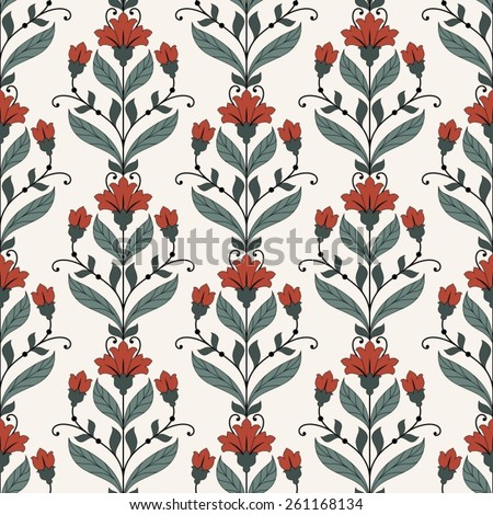 Seamless oriental pattern. - stock vector