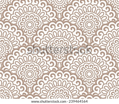 Seamless oriental pattern continuous. - stock vector