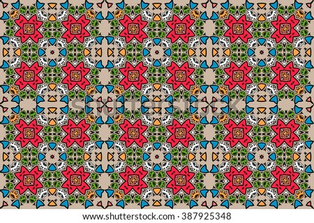 Seamless Oriental pattern. Vector illustration. Can be used as a print for textiles, and graphic design.