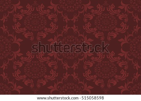 Seamless ornament on background. Wallpaper pattern