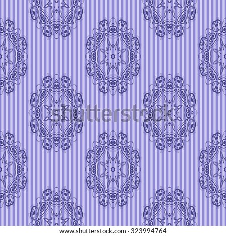 Seamless ornament on background. Wallpaper pattern. Vintage wallpaper - stock vector