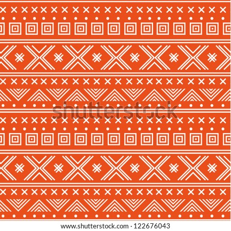 Seamless ornament pattern. North abstract background. Vector illustration