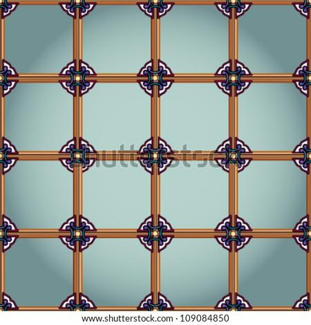 seamless ornament pattern , vector, EPS10 - stock vector