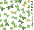 seamless ornament with green gentle butterflies on white background - stock vector