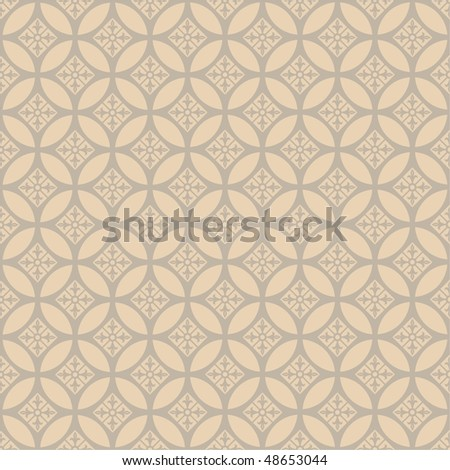 Seamless ornamental background - stock vector