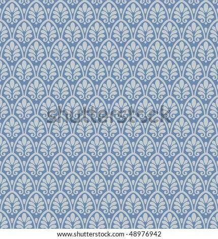 Seamless ornamental damask background - stock vector