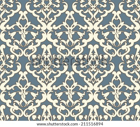 Seamless ornamental pattern illustration in pastel  - stock vector