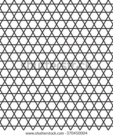 Seamless ornamental pattern of the hexagonals and triangles elements - stock vector