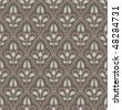 Seamless ornamental vintage background - stock vector