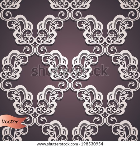 Seamless Ornate Pattern (Vector). Hand Drawn Vintage Texture - stock vector