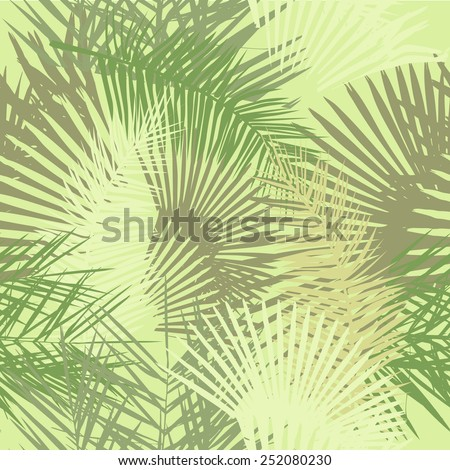 Seamless palm leaves. Vector - stock vector
