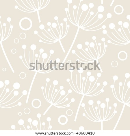 Seamless pastel floral pattern - stock vector