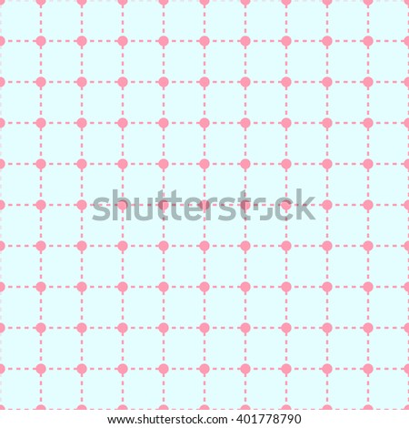 seamless pastel polka dot pattern / cute pattern / vector - stock vector