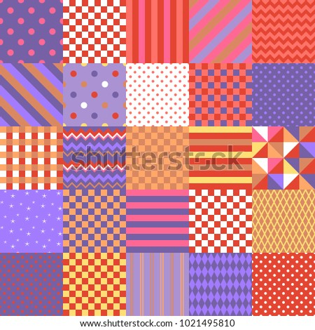 Seamless patchwork pattern colorful square patches stock photo seamless patchwork pattern from colorful square patches with geometric ornament vector illustration quilt design maxwellsz