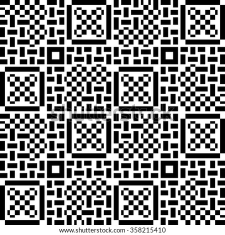 Seamless patchwork pattern in black and white tiles. Can be used for Wallpaper, pattern fills, background of web page,surface textures. - stock vector