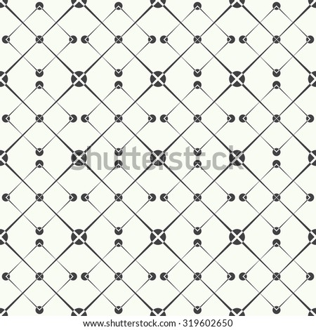 Seamless pattern. Abstract background. Modern stylish texture. Regularly repeating geometrical tiles with rhombuses. Endlessly repeating elegant ornament. Vector element of graphic design