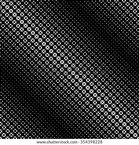 Seamless pattern. Abstract halftone background. Modern stylish texture. Repeating diagonal grid with triangles and squares of the different size. Vector element graphic design - stock vector